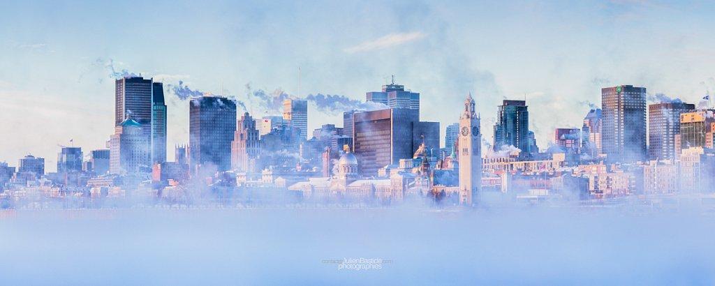 Matin glacial sur Montréal