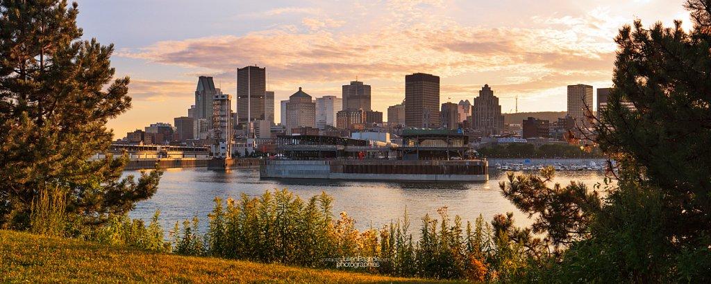 Montréal depuis le Parc de la Cité-du-Havre