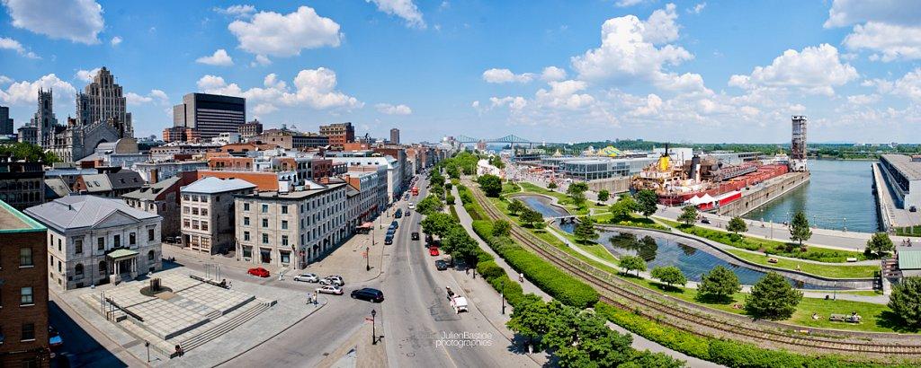 Vieux-Port de Montréal en hauteur